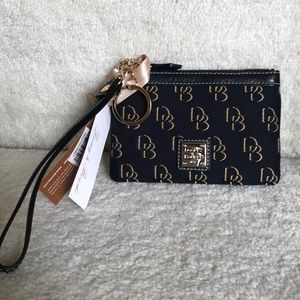 NWT dooney and bourke canvas wristlet